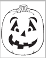 Surprised Jack-O-Lantern carving pattern from PartyCheap