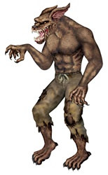 Jointed Werewolf, 6 feet tall
