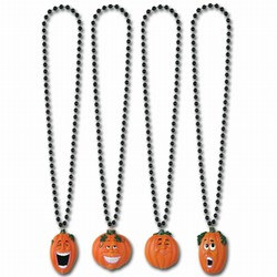 Beads with Assorted Wacky J-O-L Medallion (1/pkg)
