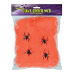 Orange Flame-Resistant Giant Spider Web