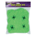 Lime Green Flame-Resistant Giant Spider Web