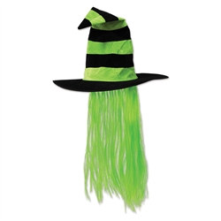 Light Green Witch Hat with Lime Green Hair