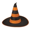 Nylon Witch Hat (Purple and Orange)(1/Pkg)