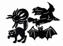Assorted Halloween Silhouettes - 4 designs