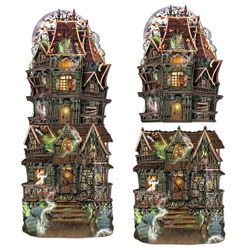 Jumbo Haunted House Cutouts