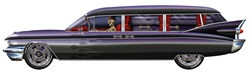 Goth Haunted Hearse 6 feet long