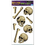Skulls and Bones Peel N Place (10/sheet)