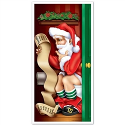 Santa Restroom Door Cover