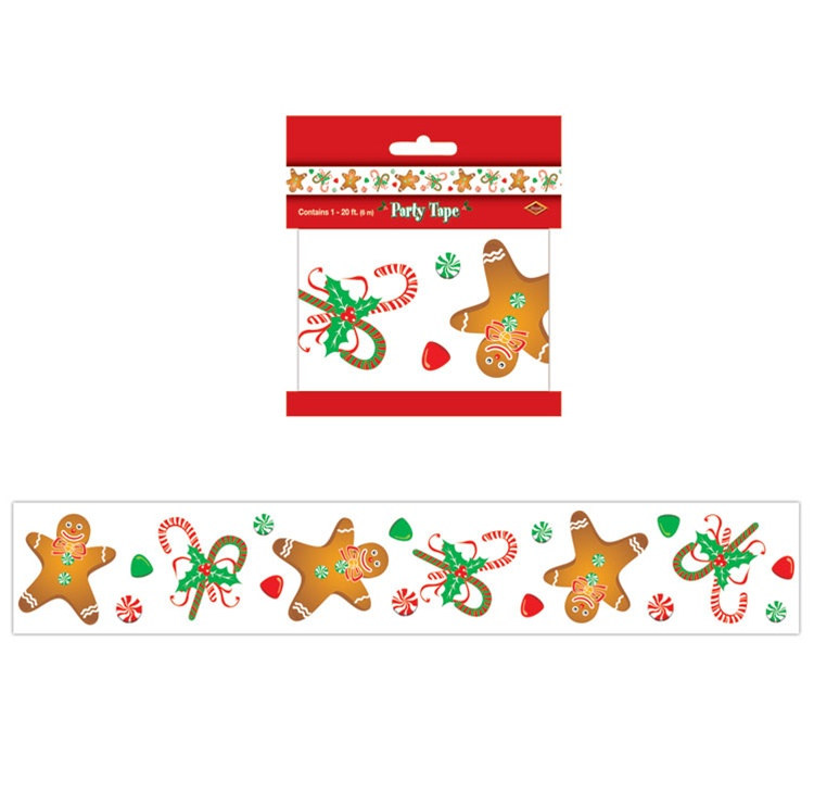 Gingerbread Man Party Tape PartyCheap