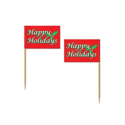 Holiday Flag Picks (50/pkg)