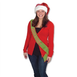 Santa's Helper Satin Sash