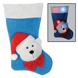 Light-Up Polar Bear Stocking