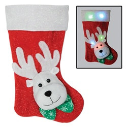 Light-Up Reindeer Stocking