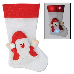 Light-Up Santa Stocking