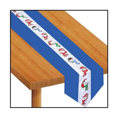 Snowman Fabric Table Runner