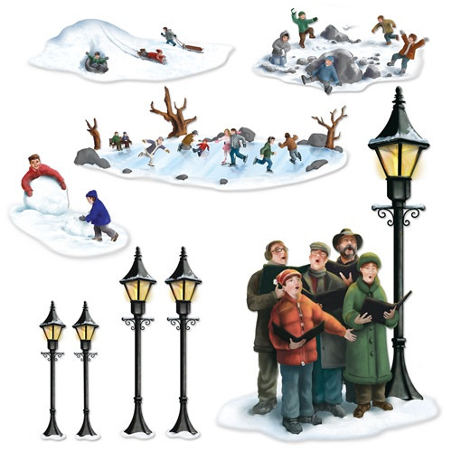 Christmas Carolers Yard Decorations: Lampposts, Carolers, And Winter Fun Props
