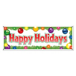 Happy Holidays Sign Banner