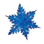 Blue Metallic Winter Snowflake