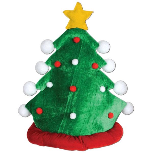Christmas Tree Hats: Plush Christmas Tree Hat