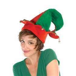 Felt Elf Hat with Bells