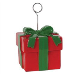 Christmas Gift Box Photo/Balloon Holder