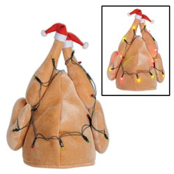 Plush Light-Up Christmas Turkey Hat