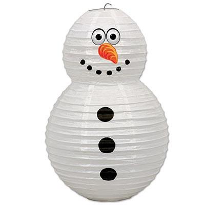 Snowman paper lantern partycheap for Snowman pocket tissues