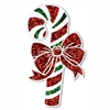 Prismatic Candy Cane Cutout