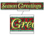 Metallic Season's Greetings Fringe Banner