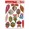 Christmas Ornament Window Clings (13/sheet)