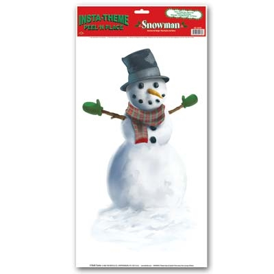 Snowman peel n place partycheap for Snowman pocket tissues