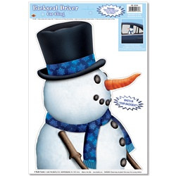 Snowman Backseat Driver Car Window Cling