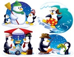 Penguin Cutouts (4/pkg)