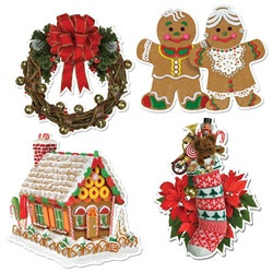 Home For Christmas Cutouts (4/pkg)