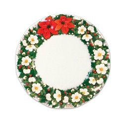 Poinsettia Medium Plates (10/pkg)