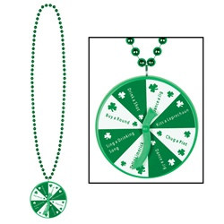 St. Patrick's Bead with Spinner Medallion (1/pkg)