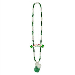 St. Pat's Beads with Shot Glass (1/pkg)