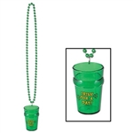 St Patricks Beads with Shot Glass