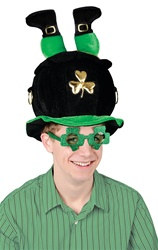 Plush Leprechaun Pot-O-Gold Hat
