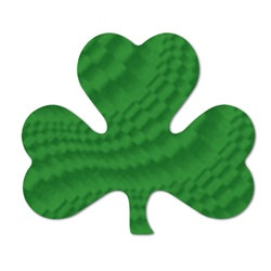 Embossed Foil Shamrock Cutouts