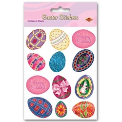 Easter Egg Stickers (4 sheets/pkg)