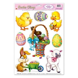 Easter Animal Window Clings (8/sheet)