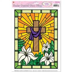 Easter Stained Glass Cling