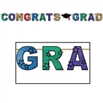Glittered Congrats Grad Streamer