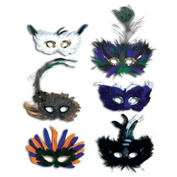 Majestic Fanci-Feather Mask (1/pkg)