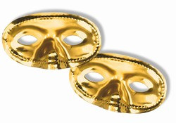 Gold Metallic Half Mask (Sold Individually)