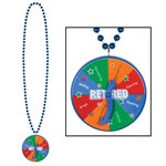 Retirement Bead with Spinner Medallion (1/pkg)