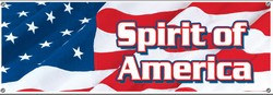 Spirit Of America Sign Banner