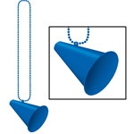 Blue Beads with Megaphone Medallion (1/pkg)