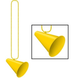Yellow Beads with Megaphone Medallion (1/pkg)
